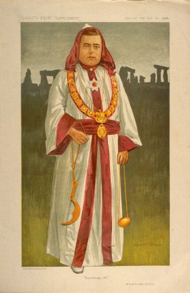 """""""Stonehenge, 1911"""" (Mr. W. McAuliffe, M.N.G.A.), Men of the Day No. 1309, from Vanity Fair Supplement"""