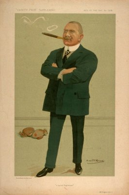"""A typical Englishman"" (Mr. Eugene Corri), Men of the Day No. 1318, from Vanity Fair Supplement"