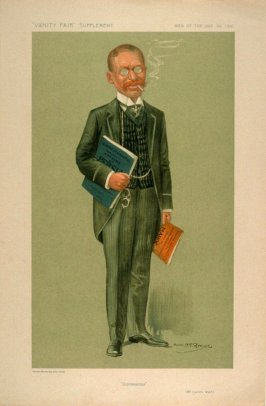 """""""Diplomaticus"""" (Mr.Lucien Wolf), Men of the Day No. 1310, from Vanity Fair Supplement"""