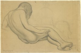 Figure Study for Earth in the fresco, The Oppressed Earth, in the Agricultural School at Chapingo