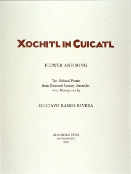 Title page to the portfolio Xochitl In Cuicatl