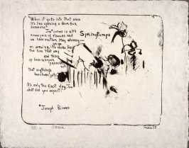 Springtemps, 1958, pl. 2, in the portfolio Stones by Frank O'Hara  (West Islip, N.Y.: U.L.A.E., 1960)