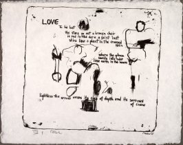 Love, 1958, pl. 4, in the portfolio Stones by Frank O'Hara  (West Islip, N.Y.: U.L.A.E., 1960)