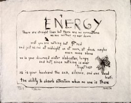 Energy, 1959, pl. 9, in the portfolio Stones by Frank O'Hara  (West Islip, N.Y.: U.L.A.E., 1960)