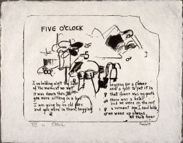 Five O'clock, 1958, pl. 10, in the portfolio Stones by Frank O'Hara  (West Islip, N.Y.: U.L.A.E., 1960)