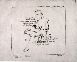 Where are they, 1958, pl. 11, in the portfolio Stones by Frank O'Hara  (West Islip, N.Y.: U.L.A.E., 1960)