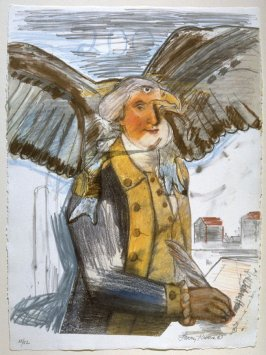 Bald Eagle George and Part of the Constitution
