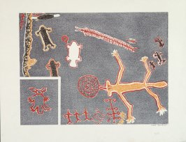 Petroglyph: Ceiling, Tule River Indian Reservation, Tulare County, California