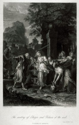 The meeting of Eliezar and Rebecca at the well.