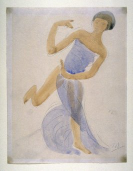 Dancer in Blue Drapery - non authentic