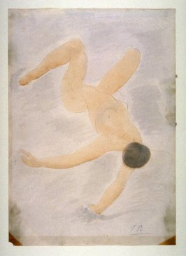 Reclining Female Nude with Knees Raised - non authentic