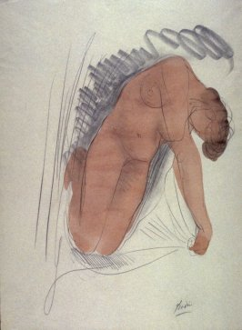 Reclining Female Nude  (Copy after Rodin)