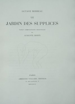 Title page for the book Le Jardin des supplices (Garden of Torments) by Octave Mirbeau (Paris: Ambroise Vollard, 1902).