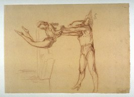 Two Acrobats, a study for for pl.7 of the portfolio, Le Cirque