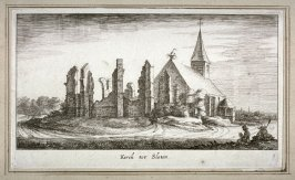 Kerck tot Sloten (Church at Sloten), pl. 8 from a set of thirteen, Plaisante Lantschappen..na t'Leven geteekent door Roelant Roghman...(Pleasant Landscapes...after Roelant Roghman...)