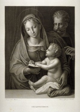 Une Sainte Famille (The Holy Family)...fourth plate in the book... Le Musée royal (Paris: P. Didot, l'ainé, 1818), vol. 2