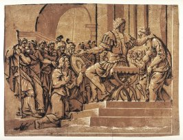 The Continence of Scipio Africanus, after Giulio Romano's fresco in the Palazzo Te