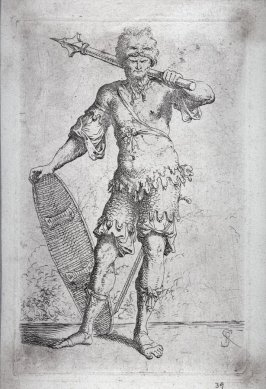 Soldier Shouldering a Pike and Holding a Shield, from the series Figurine