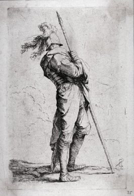 Soldier Holding his Lance with Both Hands, from the series Figurine