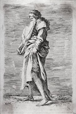 Young Woman Walking Toward the Left, from the series Figurine
