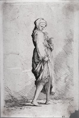Young Woman Walking Toward the Right, from the series Figurine