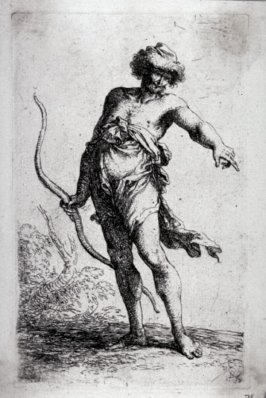 Man with a Bow, Pointing to the Right, from the series Figurine