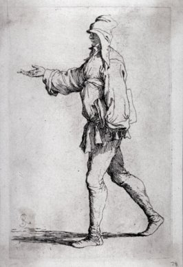 Man Striding with Right Arm Outstretched, from the series Figurine