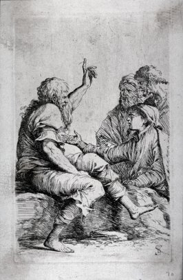 Four Men in Conversation, from the series Figurine