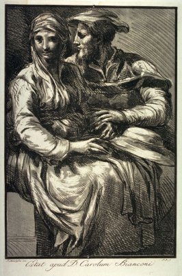 A Man and Woman Seated on a Bench