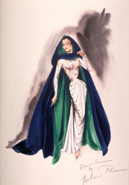 Costume Sketch For Cyd Charisse in Hot Sands of the Desert