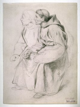 Two Monks, study for the painting Sleeping Cardinal