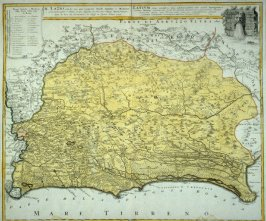 [Map of Italy]Map - Latium antiquim (map of antique Rome and her environs)