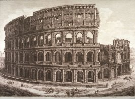 Veduta dell'Anfiteatro Flavio, detto il Colosseo (View of the Amphitheater of Flavio, called the Colosseum)