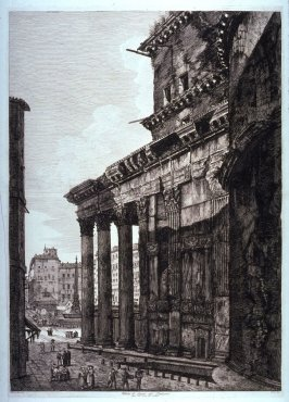 Veduta di fianco del Panteon (View of the side of the Pantheon)