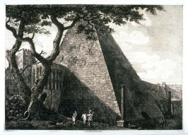 Veduta della Piramide di C. Cestio (View of the Pyramid of C. Cestio)