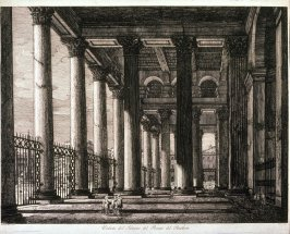 Veduta del Interno del Pronao del Pantheon (View of the Interior of the Pantheon porch)