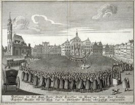 Mass meeting to honor the Emperor, Frankfort, 1742.
