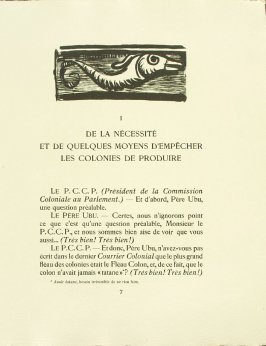 Untitled, pg. 7, in the book Réincarnations du Père Ubu (Paris: Ambroise Vollard, 1932)