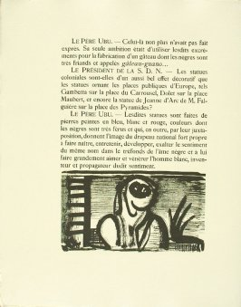 Untitled, pg. 60, in the book Réincarnations du Père Ubu (Paris: Ambroise Vollard, 1932)