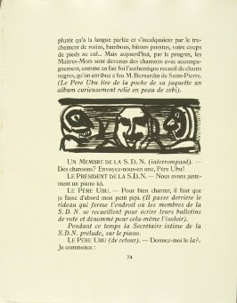 Untitled, pg. 74, in the book Réincarnations du Père Ubu (Paris: Ambroise Vollard, 1932)