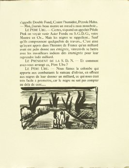 Untitled, pg. 87, in the book Réincarnations du Père Ubu (Paris: Ambroise Vollard, 1932)