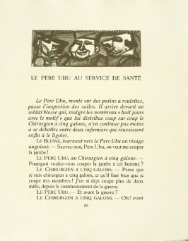 Untitled, pg. 95, in the book Réincarnations du Père Ubu (Paris: Ambroise Vollard, 1932)