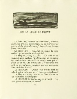 Untitled, pg. 113, in the book Réincarnations du Père Ubu (Paris: Ambroise Vollard, 1932)