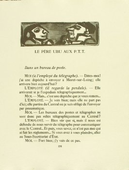 Untitled, pg. 151, in the book Réincarnations du Père Ubu (Paris: Ambroise Vollard, 1932)