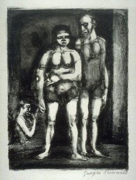 """The Wrestlers (also called """"Parade"""") from the series Cirque Forain"""