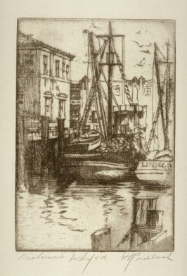 Eleven etchings of local scenes in San Francisco: Fisherman's Wharf San Francisco