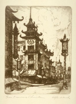 Eleven etchings of local scenes in San Francisco: San Francisco Chinatown