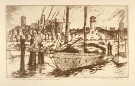 Eleven etchings of local scenes in San Francisco: San Francisco Yacht Harbor