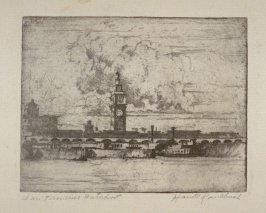 Eleven etchings of local scenes in San Francisco: San Francisco Waterfront