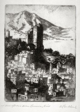 Eleven etchings of local scenes in San Francisco: Tamalpais from Russian Hill